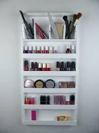 makeup rack organizer white make up organizer display bathroom storage  holder nail polish rack wall hanging . makeup rack ...
