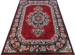 contemporary 5x7 area rug red black white dining room actual size 5 1 x 7