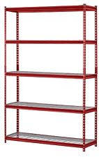 metal storage shelves. heavy duty metal storage 5 shelves shelf rack steel shelving 48 x 18 72 red