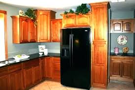hickory cabinets over refrigerator cabinet kitchen above natural hton h