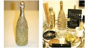 Decorative Champagne Bottles Glittery Champagne Bottle DIY New Year's Decorating Ideas 2
