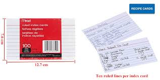3x5 Cards Hilroy Mead Index Cards Ruled 3 X 5 Inch 231472
