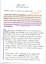 geography hl how to write the mark essay the geography study  annotated digital divide essay