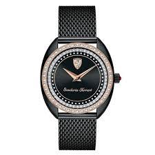 Ferrari Donna Women S Watch Black Steel Black Rose Gold Case 34 Mm 820011 Watchroom24