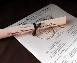 Wedding Program Scroll Scroll Wedding Programs Full Size