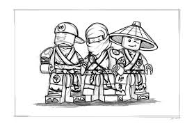 Small Picture Lego Ninjago Coloring Pages Coloring Kids