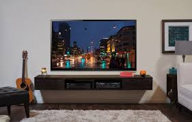 Wall Mounted Tv Stand Entertainment Console Mayan Espresso In Wall Mount  For 70 Tv