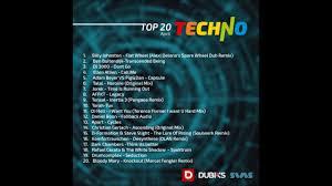 Techno Chart 2017 Top 20 Techno Chart April 2017