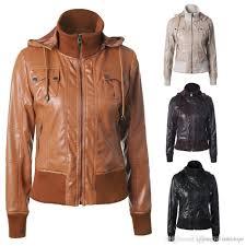 spike coats best red faux leather biker jacket