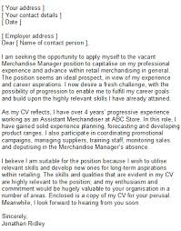 sample retail cover letter speculative covering letter examples