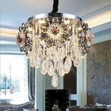 european crystal chandelier circular led ceiling lamp atmosphere room lamp warm room ceiling lights restaurant suction double use lamp crystal light crystal