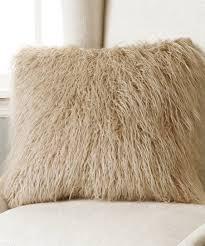 Mongolian fur pillows Oversized Taupe Faux Mongolian Lamb Fur Pillow Zulily Best Home Fashion Taupe Faux Mongolian Lamb Fur Pillow Zulily