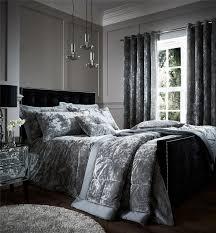 velvet duvet cover king. Fine Cover Crushed Velvet Duvet Quilt Cover Set Bed Linen Double King Size Bedding  Silver Inside U