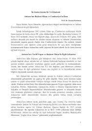 İki Kutlu Günün 90. Yıl Dönümü: Ankara`nın Başkent Oluşu ve