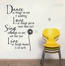 dance love sing live wall quote decal lettering saying wall art sticker decor wall decals quotes home sticker wall art decals sticker wall art quotes from  on wall art lettering quotes with dance love sing live wall quote decal lettering saying wall art
