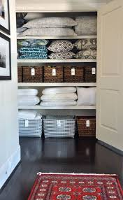 if you have a tiny narrow linen closet space then laura via finding home farms has some great tips for how to make the most out of it