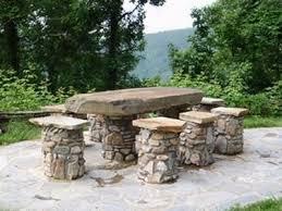 Barbecue Da Esterno In Pietra : Tavoli da giardino in pietra