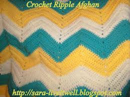 Double Crochet Chevron Pattern Extraordinary Live It Well Crochet Ripple Afghan