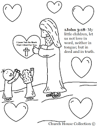 Valentine Coloring Pages Jesus And Love - glum.me