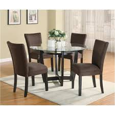 Dining Chair In Gold Ocre Microfiber Cushioned Aptdeco