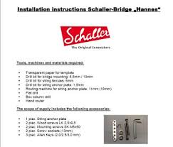 "schaller bridge hannesâ""¢ schaller installation instructions schaller guitar bridge hannesâ""¢"