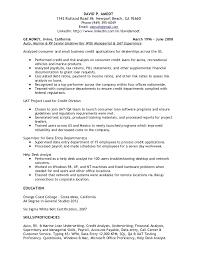 Credit Analyst Resume Underwriting Credit Analyst Resume