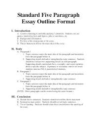 Extended Essay Outline Examples Blank Essay Outline Template Printable Essay Outline Template T