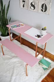 DIY copper pipe desk (via abeautifulmess)