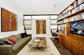 home office in living room. elegant office in the living room for effective space saving layout home t