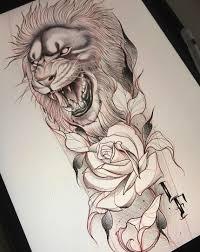 эскизы тату львов значение татуировки со львом крутые татуировки