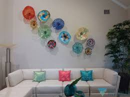 blown glass wall art glass