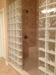 glass block shower wall dublin ohio mediterranean bathroom glass block shower wall