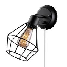 lighting wall lamp plug target light with pull cord switch sconce kit sconces into lamps surprising globe electric black shade crystal candle holders