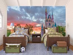castle dusk disney castle wall murals