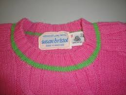 Susan Bristol Size Chart Susan Bristol Womens Vintage Cable Knit Bright Pink With Green Accents Sweater