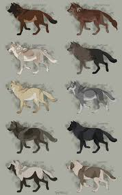 Realistic Wolf Designs Semi Realistic Wolf Adoptables Set 10 Closed By Therbis On