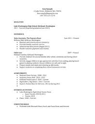 Resume For College Student With No Experience Fresh Resume Templates