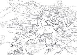 Barmhartige Samaritaan Kleurplaat Gratis Kleurplaten Printen