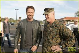 marine corps air station camp pendleton hollywood star gerard butler ed camp pendleton where he screened his new movie quot