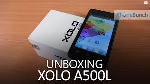 Xolo A500L Unboxing