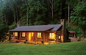 cabin camping in the woods. Small Cabin Restoration Log Chimney Forest Camping In The Woods