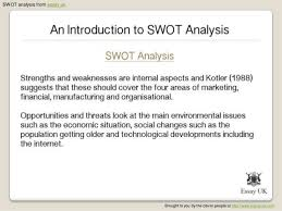 an introduction to swot analysis 4 swot analysis from essay