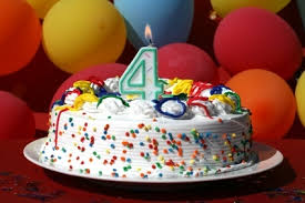 Image result for کیک تولد چهار سالگی دخترانه