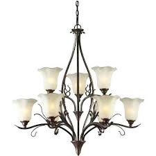 antler chandelier home depot 9 light black cherry bronze chandelier with umber glass shade
