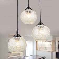image of glass pendant lights modern