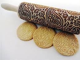 Patterned Rolling Pin Unique Amazon PAISLEY Embossing Rolling Pin PAISLEY Pattern Engraved