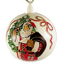 Hand Decorated Christmas Balls Merry Christmas Hand Painted Christmas Ball No100 Made In 84