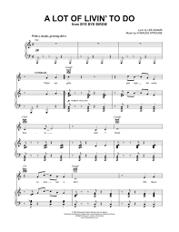 bye bye birdie sheet music download a lot of livin to do sheet music by lee adams sheet