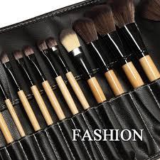 pro 24pcs superior soft cosmetic makeup brush set brushes kit pouch bag case us ebay