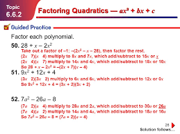 26 factoring quadratics